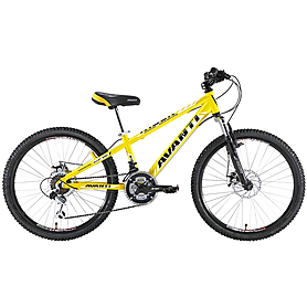 "Велосипед детский Avanti Rider - 24"", рама - 12"", желтый (RA04-904-YLW-K)"