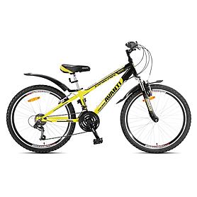 """Велосипед горный подростковый Avanti Dakar Disk 2015 - 24"""", рама - 11"""", желто-черный (RA04-950M11-YLW/BLK-K)"""