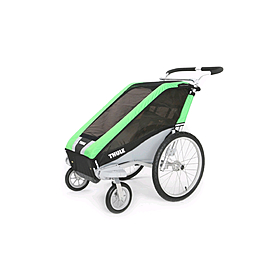 Фото 4 к товару Велоколяска детская Thule Chariot Chetah1 + набор колес, зеленая