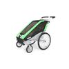 Велоколяска детская Thule Chariot Chetah1 + набор колес, зеленая - фото 4