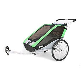 Фото 1 к товару Велоколяска детская Thule Chariot Chetah2 + набор колес, зеленая