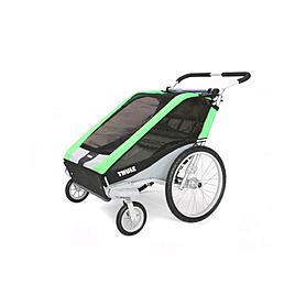 Фото 2 к товару Велоколяска детская Thule Chariot Chetah2 + набор колес, зеленая