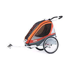 Фото 1 к товару Велоколяска детская Thule Chariot Corsaire1 + набор колес, оранжевая
