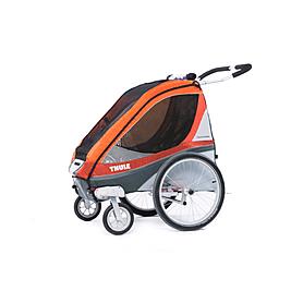 Фото 2 к товару Велоколяска детская Thule Chariot Corsaire1 + набор колес, оранжевая