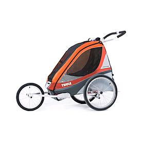 Фото 3 к товару Велоколяска детская Thule Chariot Corsaire1 + набор колес, оранжевая