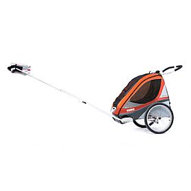 Фото 4 к товару Велоколяска детская Thule Chariot Corsaire1 + набор колес, оранжевая