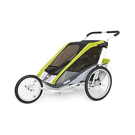 Фото 3 к товару Велоколяская детская Thule Chariot Cougar1 + набор колес, зеленая