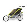 Велоколяская детская Thule Chariot Cougar1 + набор колес, зеленая - фото 3
