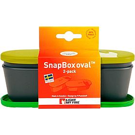 Фото 2 к товару Набор посуды Light My Fire SnapBox Oval 2-pack лайм/зеленый