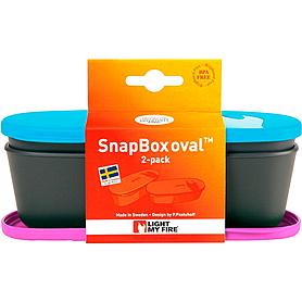 Фото 2 к товару Набор посуды Light My Fire SnapBox Oval 2-pack пурпурный/голубой