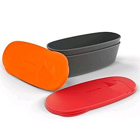 Набор посуды Light My Fire SnapBox Oval 2-pack красный/оранжевый