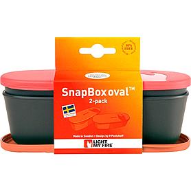 Фото 2 к товару Набор посуды Light My Fire SnapBox Oval 2-pack красный/оранжевый