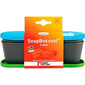 Фото 2 к товару Набор посуды Light My Fire SnapBox Oval 2-pack зеленый/голубой