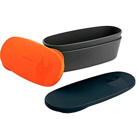 Набор посуды Light My Fire SnapBox Oval 2-pack оранжевый/черный
