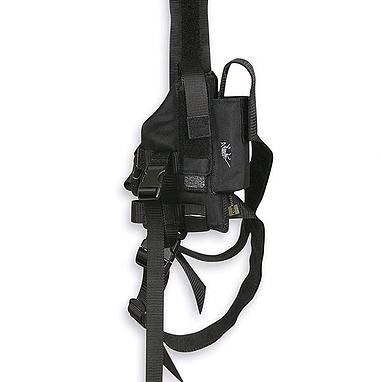 Кобура на ногу на ремнях Tasmanian Tiger Tactical Holster черная