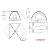Палатка трехместная Marmot Limelight 3P Tent Alpenglow - фото 3