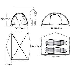 Фото 2 к товару Палатка двухместная Marmot Traillight FX 2P hatch/dark cedar