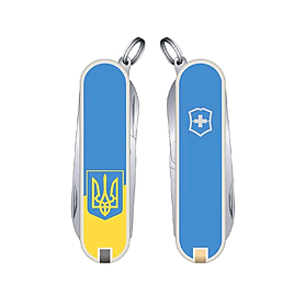 Нож Victorinox Classic SD Ukraine 06223.7R3 голубой
