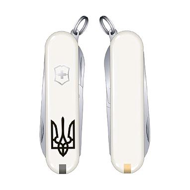 Нож Victorinox Classic SD Ukraine 06223.7R1 белый