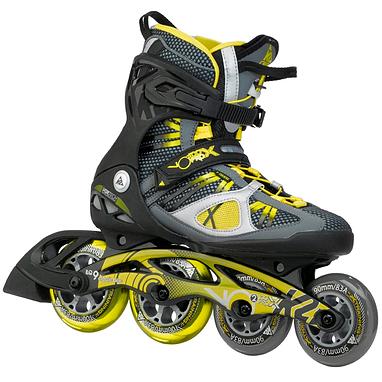 Коньки роликовые K2 VO2 100 X Pro 2015 черно-желтые
