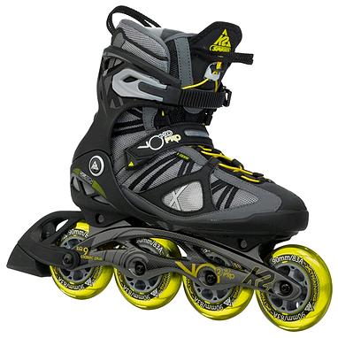 Коньки роликовые K2 VO2 90 Pro M 2015 серо-желтые