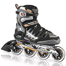 Фото 1 к товару Коньки роликовые Rollerblade Crossfire 90 2013 черно-оранжевые