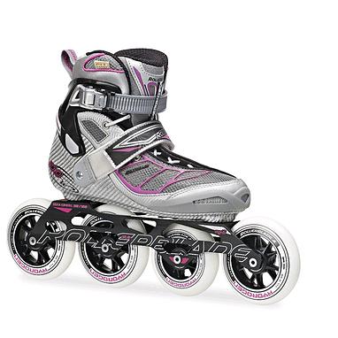 Коньки роликовые Rollerblade Tempest 100 W 2014 silver/purple