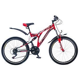 """Велосипед горный подростковый Formula Stark AM2 24"""" черно-красный рама - 16"""""""