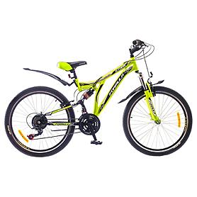 """Велосипед горный подростковый Formula Stark AM2 24"""" черно-зеленый рама - 16"""""""