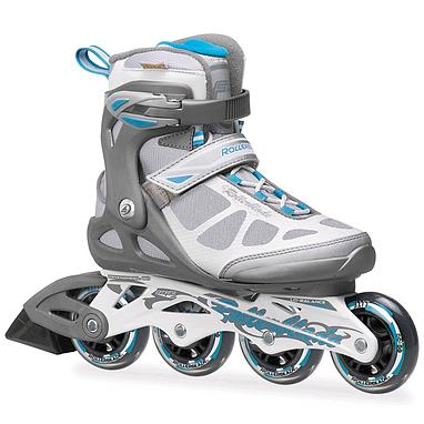 Коньки роликовые Rollerblade Macroblade W 2014 серо-голубые