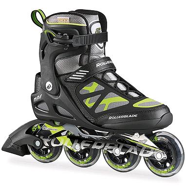 Коньки роликовые Rollerblade Macroblade 84 2015 черно-зеленые