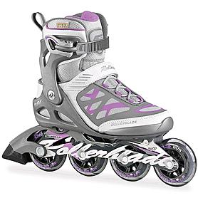 Коньки роликовые Rollerblade Macroblade 84 W 2015 серо-розовые