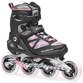 Фото 1 к товару Коньки роликовые Rollerblade Macroblade 90 W 2014 черно-розовые