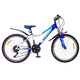 """Велосипед горный подростковый Formula Forest AM 24"""" 2015 бело-синий, рама - 12"""""""