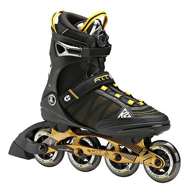 Коньки роликовые K2 F.I.T. Boa 2014 черно-желтые