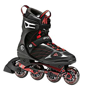Коньки роликовые K2 Fit 80 2015 черно-красные