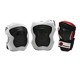 Защита для катания (комплект) K2 Performance M Pad Set черная с красным, размер - L