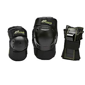 Фото 1 к товару Защита для катания на роликах (комплект) K2 Prime M Pad Set черная с зеленым, размер - XL
