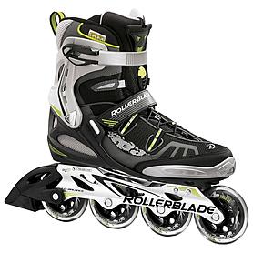 Коньки роликовые Rollerblade Spark 84 2012 черно-зеленые - р. 40,5