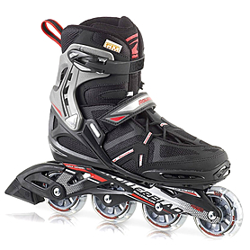 Коньки роликовые Rollerblade Spark Comp 2013 черно-красные - р. 44,5