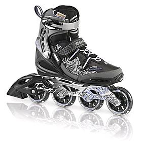 Коньки роликовые женские Rollerblade Spark 80 W Alu 2013 черно-серебристые - р. 40