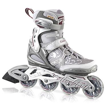 Коньки роликовые женские Rollerblade Spark Comp W 2013 серебристые - р. 38