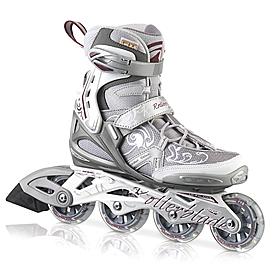 Коньки роликовые женские Rollerblade Spark Comp W 2013 серебристые - р. 39
