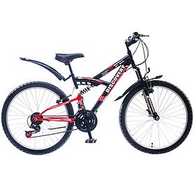 """Велосипед подростковый горный Discovery Rocket AM2 14G St 2015 - 24"""", рама - 16"""", черно-красный (OPS-DIS-24-002-2)"""