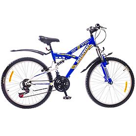 """Велосипед подростковый горный Discovery Rocket AM2 14G St 2015 - 24"""", рама - 16"""", сине-белый (OPS-DIS-24-003-2)"""