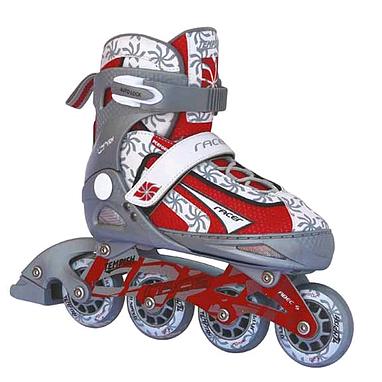Коньки роликовые раздвижные Tempish Racer красные - 35-38