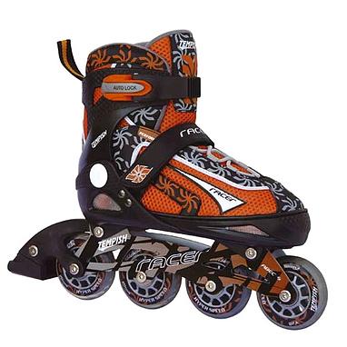 Коньки роликовые раздвижные Tempish Racer оранжевые