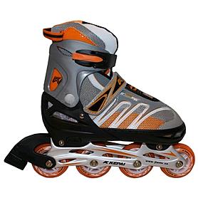 Коньки роликовые раздвижные Kepai F1-K02 серо-оранжевые