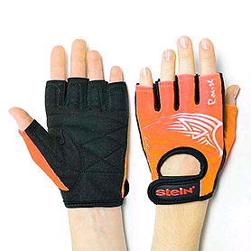 Перчатки спортивные Stein Rouse GLL-2317orange чёрно-оранжевые, размер S