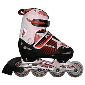Коньки роликовые раздвижные Kepai F1-K08 красные